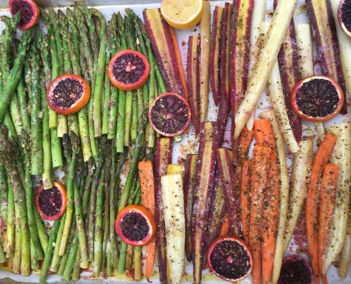 CITRUS ROASTED SPRING VEGGIES
