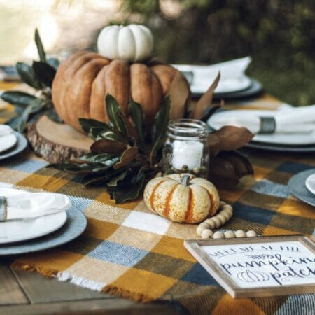 tablescapes with pumpkins