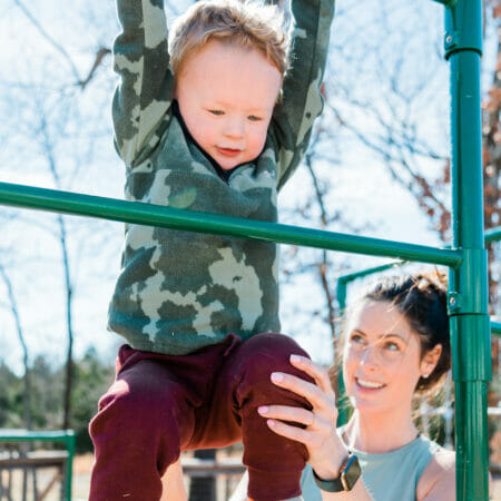 child climbing at the park