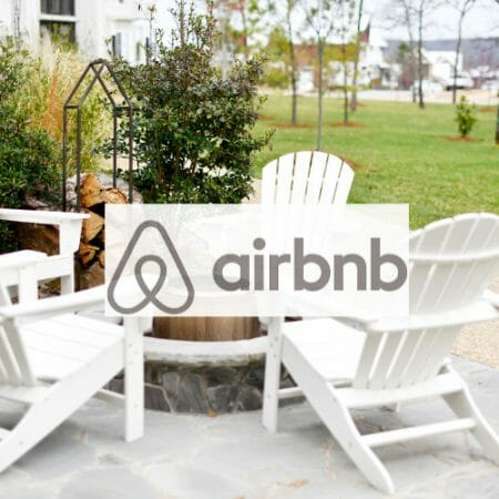 AirBnB over chairs
