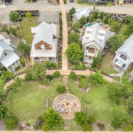 semi circle of homes at carlton landing