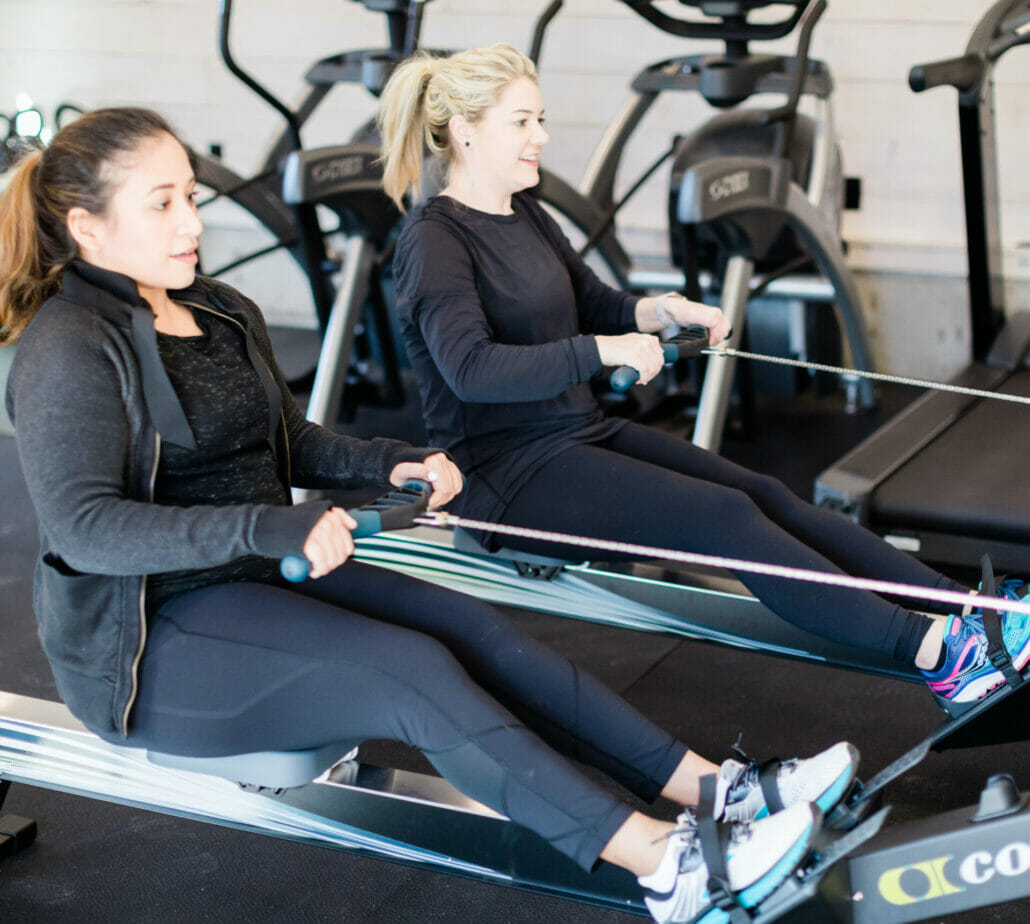 ladies exercising at wellness center